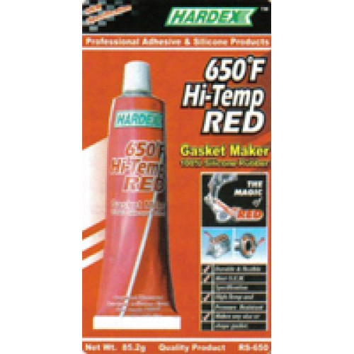 RS 650 Hi-Temp Red RTV Silicone Gasket Maker